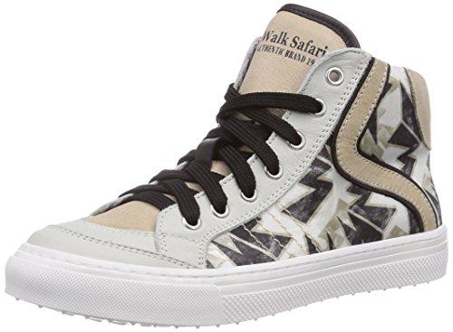 Walk safari SNEAKER, Sneaker alta bambino, Grigio (Grau (OFF WHITE/BIA-SAB)), 34