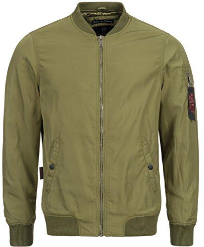 Marikoo -  Giacca - Bomber Jacket - Basic - Uomo verde Large