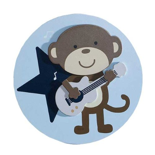 Carter's 3D Wall Art, Monkey Rockstar (Discontinued by Manufacturer)