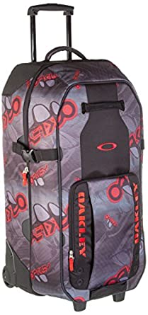 Oakley Men's Large Roller-266 Luggage Set, Grey Red, One Size