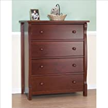 Sorelle Princeton 4 Drawer Chest Cherry Armoires Chestsdressers