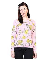 Kalt Women's Cotton Sweater (W106 4XL _XXXX-Large_Pink Melange)