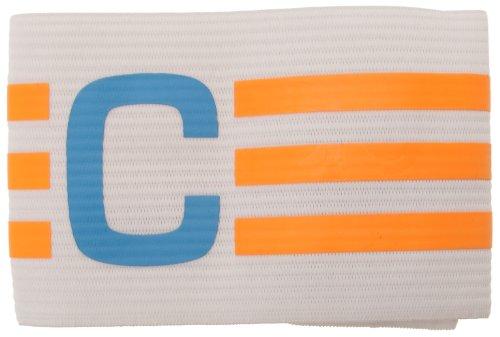 Adidas - Fascia da Capitano Bianca / Arancione / Celeste