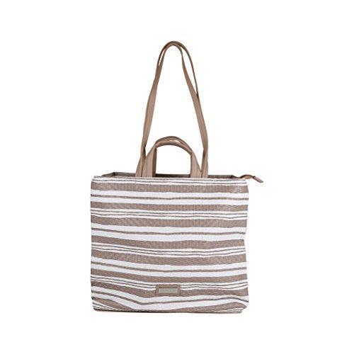 Pierre Cardin - Borsa Donna Shopping Bag con Manici e Tracolla, colore Sabbia Taupe BY12_14474_TAUPE