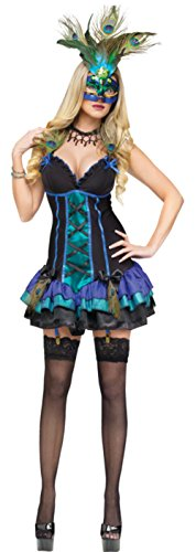 Funworld Womens Animals Sexy Midnight Peacock Adults Halloween Themed Costume