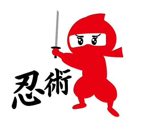 "Sushi Ninja ""Kunoichi Ninja Sword"" Vinyl Sticker From Japan"