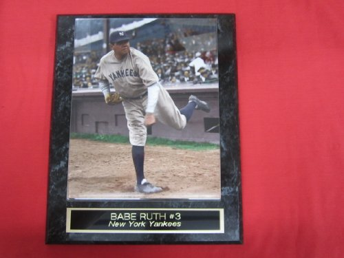 Babe Ruth New York Yankees Collector Plaque w/8x10 RARE COLORIZED Photo! at Amazon.com