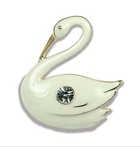 Bereavement Swan Pin Jewelry Memorial Brooch