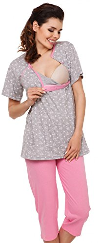 Zeta Ville - Womens Maternity Nursing Robe/Pyjamas/Nightdress MIX & MATCH - 980c (Pyjamas, US 6, M)