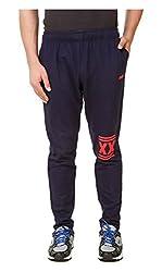 Spunk Men Cotton Blend Track Pant (1000537414002_Blue_M)