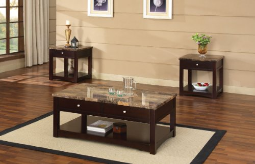 Cheap Acme 80019 Jas Faux Marble Lift Top End Table, Espresso Finish (B00829ZOD4)