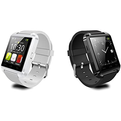 2014 Luxury Bluetooth Smart Watch Wrist Wrap Watch Phone for IOS Apple iphone 4/4S/5/5C/5S Android Samsung S2/S3/S4/Note 2/Note 3 HTC Nokia... (White)