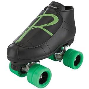 Riedell Hybrid Jam Skates - Riedell Hybrid Black & Green Derby Skates