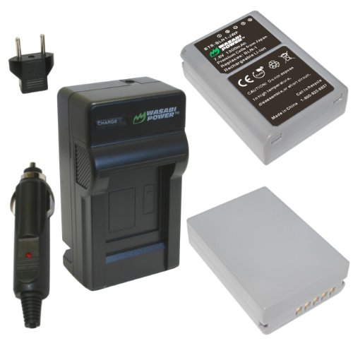 Wasabi Power Battery and Charger Kit for Olympus BLN-1, BCN-1 and Olympus OM-D EM-5