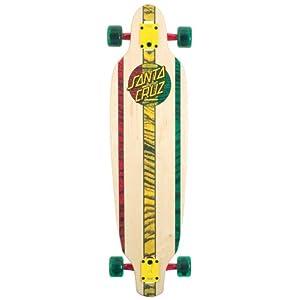 Santa Cruz Skate Rasta Drop Thru Longboard Cruzer, 9-Inch x 35-Inch