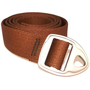Bison Designs 30mm wide Danger Belt with Gunmetal Buckle (Brown, 38-Inch Maximum Waist/Medium)