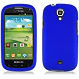 Aimo Wireless SAMI415PCLP002 Rubber Essentials Slim and Durable Rubberized Case for Samsung Galaxy Stratosphere 2 i415 - Retail Packaging - Blue