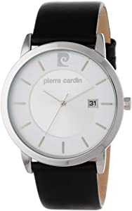 Pierre Cardin Men's PC900861001 Classic Analog Leather Band Watch