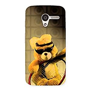 AJAYENTERPRISES Smart teddy With Googles Back Case Cover for Moto X