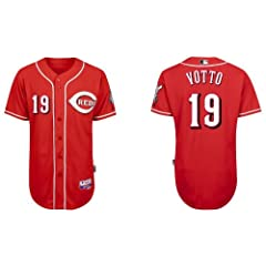 Joey Votto Jersey Cincinnati Reds 19 Votto Red Cool Base Jersey