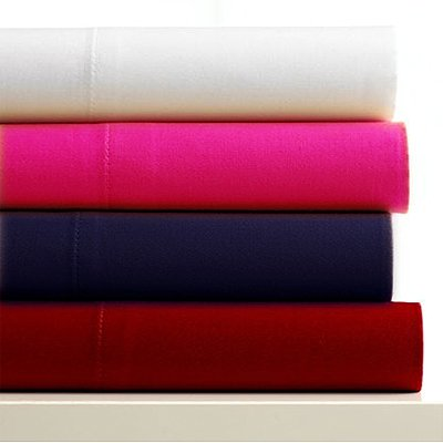 Linens Limited Microfibre Fitted Sheet, Red, King