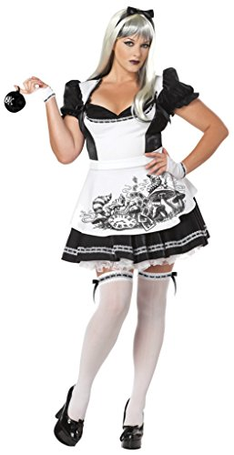 California Costumes Womens Story Book Sexy Dark Alice In Wonderland Gothic Dress