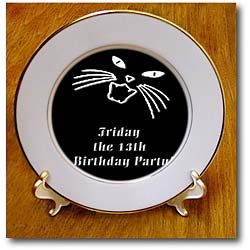 Friday the 13th Birthday Party - 8 Inch Porcelain Plate