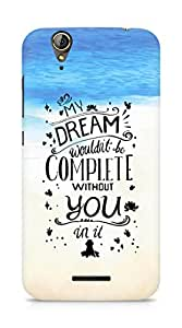 AMEZ my dream wouldnt have been complete without you Back Cover For Acer Z630S
