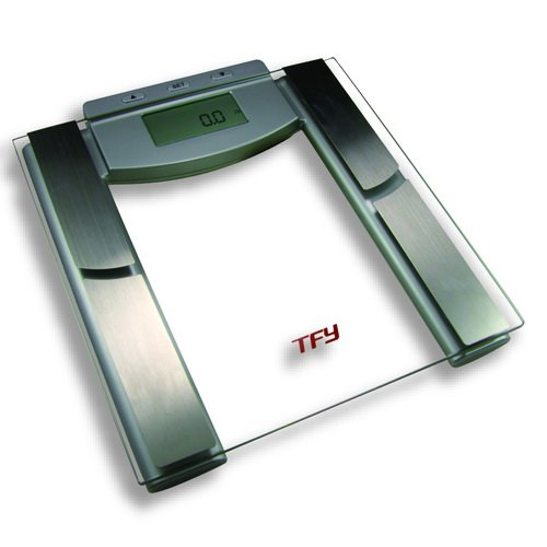 TFY High-Capacity Scale with Body Composition Analyzer - Measures Body Fat, Hydration, Muscle and Bone Mass - Five Athletic Modes - 12 Personal Profiles (440 lb.)
