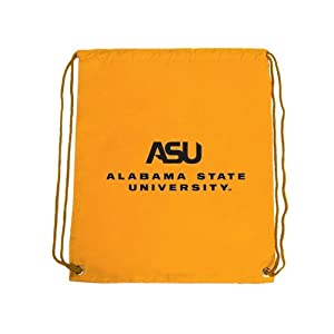 Alabama State Nylon Gold Drawstring Backpack, ASU Alabama State University