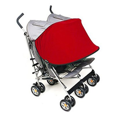 Manito Sun Shade for Twin Stroller (Red)
