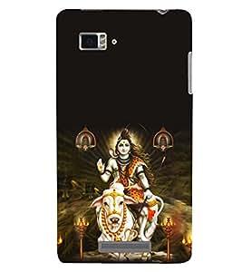 Printvisa Premium Back Cover Lord Shiva Heavenly Pic Design For Lenovo Vibe Z K910