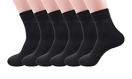 Silkworld Men'S Bamboo Fiber Solid Color Dress Ankle Socks Pack Of 6 Dark Gray