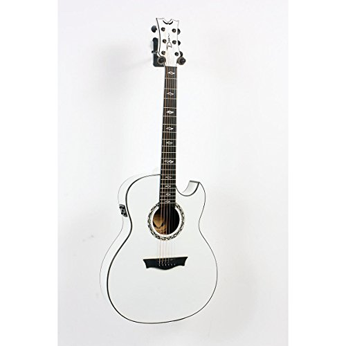 Dean Exhibition Ultra Classic Black Acoustic-Electric w/USB Classic White 888365475264