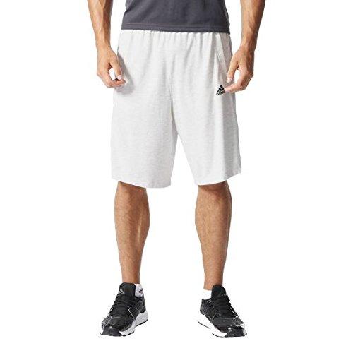 Adidas Ess The Short Pantaloncini - Bianco (Whtmel/Negro) - M