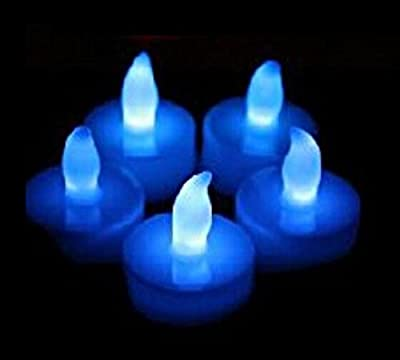 Liroyal Set of 12 LED Candles, Flameless Tea Lights for Decoration, Festivals, Weddings with Batteries