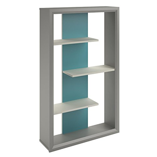 Altra 3 Shelf Monarch Contemporary Ladder Open Storage Bookcase, Multicolor Altra 3 Shelf Bookcase
