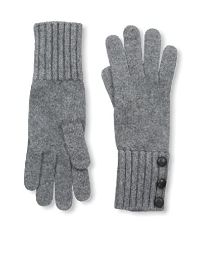 Portolano Women's Glove with Buttons, Medium Heather Grey