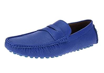 Salvatore Exte Men's Shoe Wes Penny Slip-On Loafer (7.5 D(M) US, Royal)