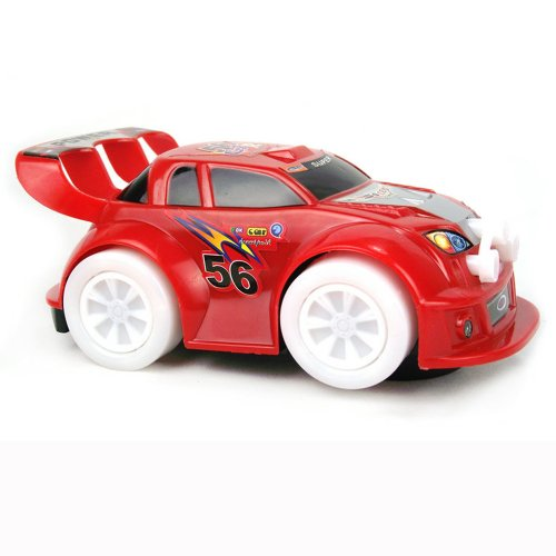 Bump 'N Go Electric Racing Car Toy with Music and Flash Lights, Color Varies