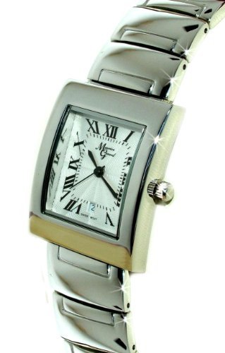 Maurice Gerard Genoa Ladies Steel Silver Swiss Dress Watch - Textured Silver Dial