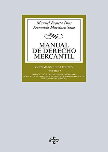 Manual de Derecho Mercantil (Derecho - Biblioteca Universitaria De Editorial Tecnos)