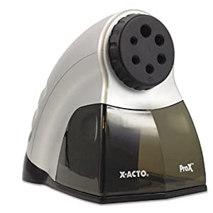 X-ACTO ProX Electric Pencil Sharpener with SmartStop, Gray and Black (1612)