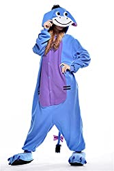 VU ROUL Unisex Adult Clothing Kigurumi Cosplay Costume Eeyore Pyjamas