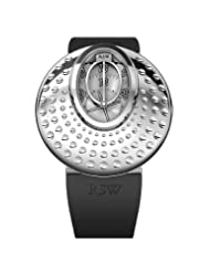 RSW Women's 7130.BS.R1.5.00 Moonflower Stainless-Steel Dotted Automatic Black Rubber Watch