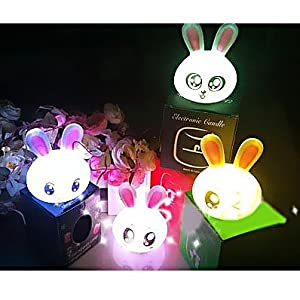 Gift Idea! MagicLightz LED Rabbit-shaped Color Changing Battery Night Light, Random Types Of Impressions, Price/Piece