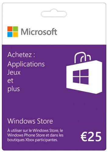 Carte Cadeau Windows Store 25 euros
