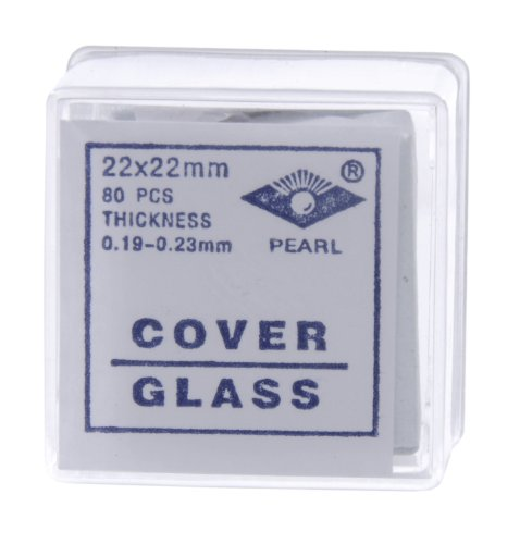 American-Educational-Glass-Microscope-Cover-Slip-22mm-Length-22mm-Width-2-Thickness-Bundle-of-800