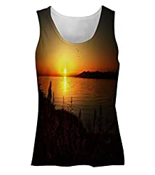 Snoogg Sun Rising Womens Tunic Casual Beach Fitness Vests Tank Tops Sleeveless T shirts