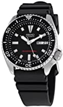Hot Sale Seiko Men's SKX173 Stainless Steel and Black Polyurethane Automatic Dive Watch